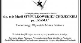 """Żegnamy mjr Marię Stypułkowską-Chojecką ps. """"Kama"""""""