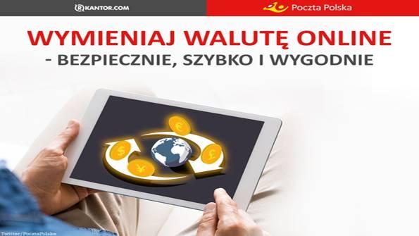 urzędy i administracja , Poczta Polska udostępnia kantor online - zdjęcie, fotografia