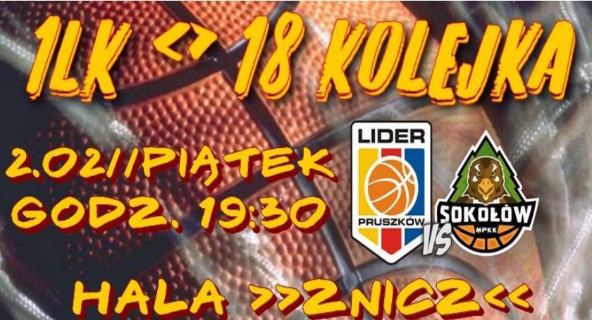 koszykówka, Panattoni Europe Lider Pruszków kontra Sokołów Sokołów Podlaski - zdjęcie, fotografia