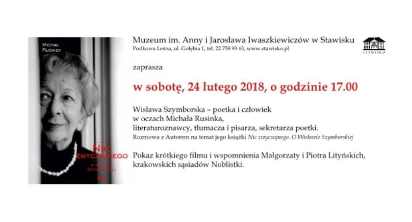 historia, Wisława Szymborska spotkanie Stawisku - zdjęcie, fotografia