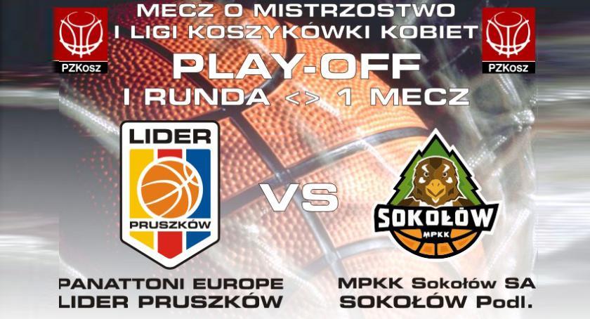 koszykówka, LIDER Pruszków Playoff runda Panattoni Europe Lider Pruszków Sokołów - zdjęcie, fotografia