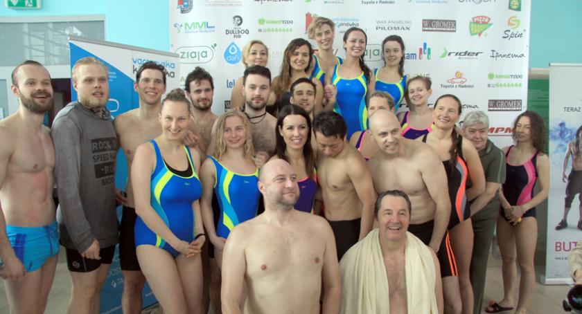 pływanie, patronat medialny Małgorzata Potocka Mateusz Banasiuk Mistrzostwach Aktorów Pływaniu - zdjęcie, fotografia