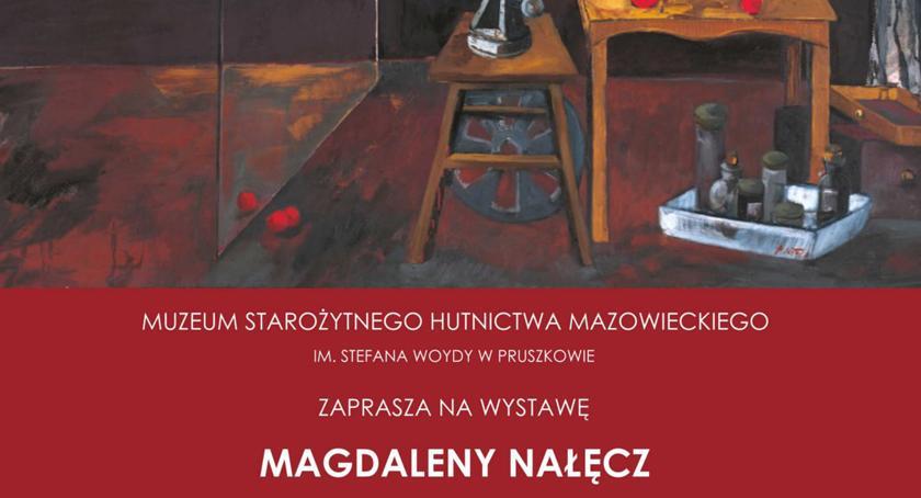 """wystawy, """"Obrazy muzyczne"""" autorstwa Magdaleny Nałęcz Muzeum Starożytnego Hutnictwa Mazowieckiego Pruszko - zdjęcie, fotografia"""