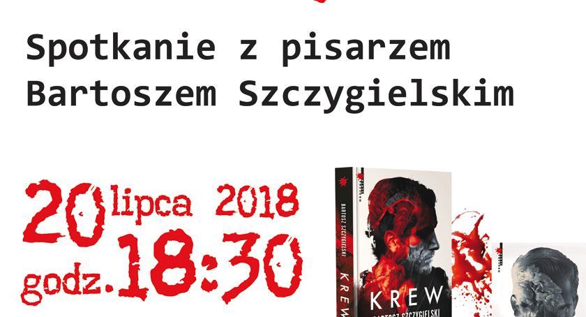 publicystyka, Spotkanie pisarzem Bartoszem Szczygielskim pruszkowskiej Malvi - zdjęcie, fotografia