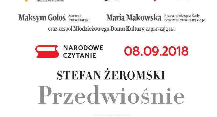 """edukacja, Narodowe Czytanie """"Przedwiośnia"""" Stefana Żeromskiego - zdjęcie, fotografia"""