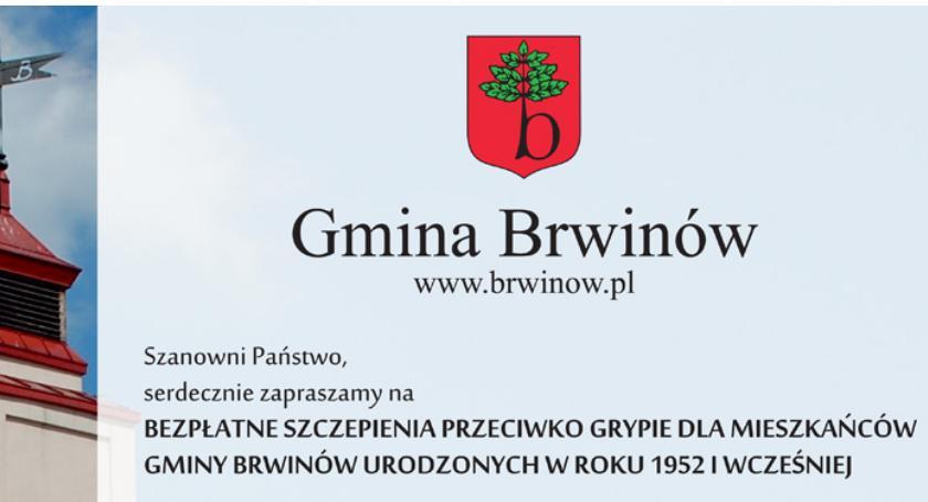 zdrowie, Szczepienia przeciw grypie seniorów gminy Brwinów - zdjęcie, fotografia