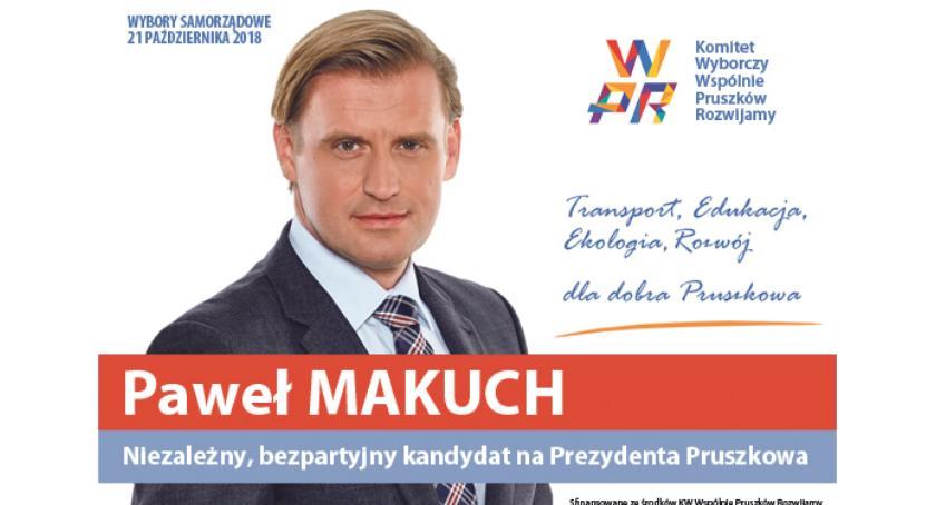 urzędy i administracja , Oświadczenie Pawła Makucha kandydata Prezydenta Miasta Pruszkowa - zdjęcie, fotografia