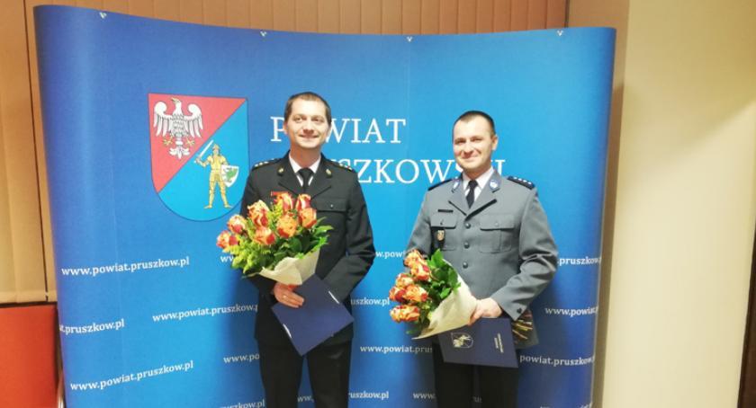 powiat , Policjant Strażak powiatu pruszkowskiego - zdjęcie, fotografia