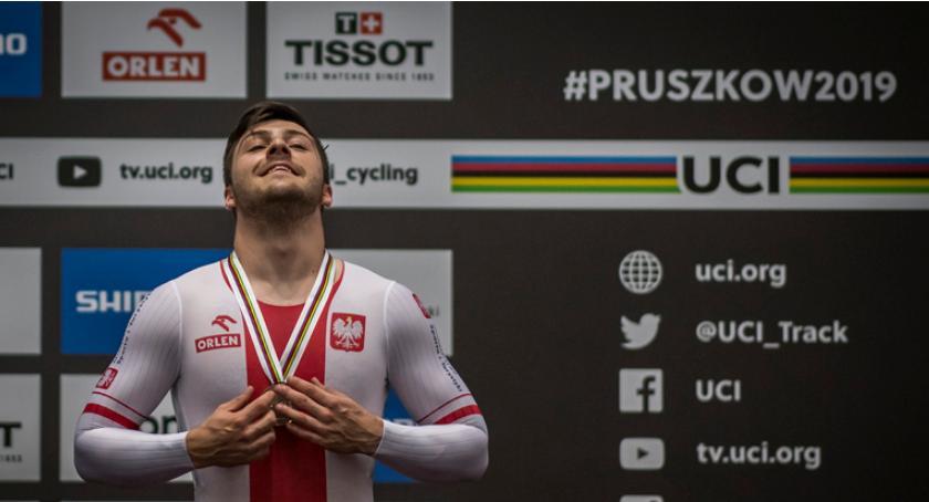 kolarstwo, Brązowy medal Mateusza Rudyka sprincie! - zdjęcie, fotografia