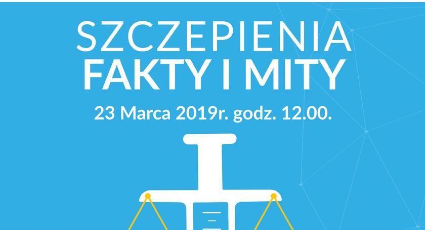 """edukacja, Spotkanie Pawłem Grzesiowskim """"Szczepienia Fakty mity"""" - zdjęcie, fotografia"""