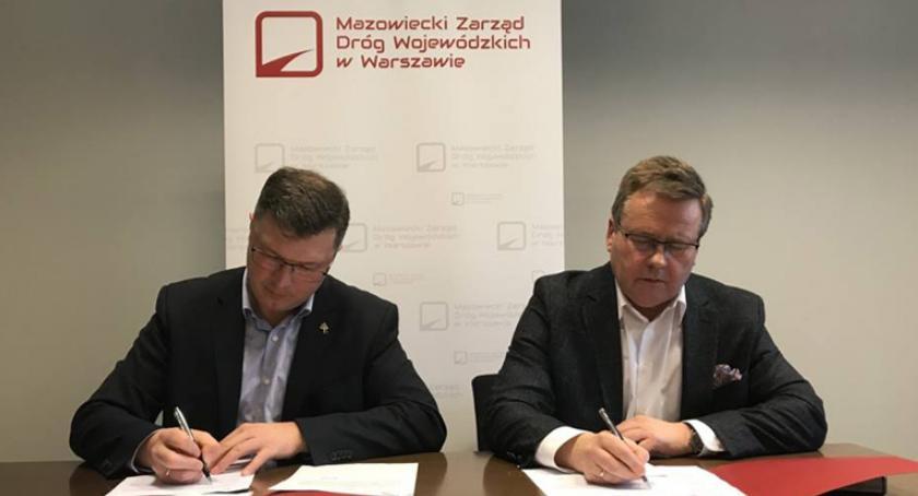 inwestycje, Porozumienia gminy Brwinów Mazowieckim Zarządem Dróg Wojewódzkich - zdjęcie, fotografia