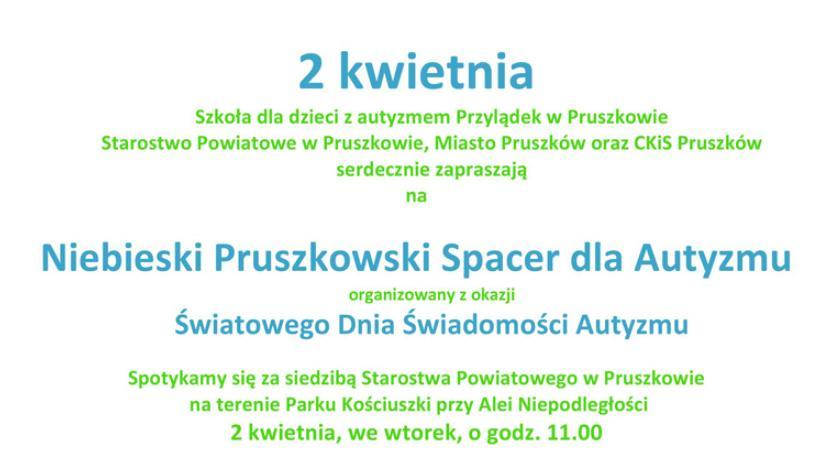 powiat , Powiat Pruszkowski zaprasza Niebieski Spacer Autyzmu - zdjęcie, fotografia