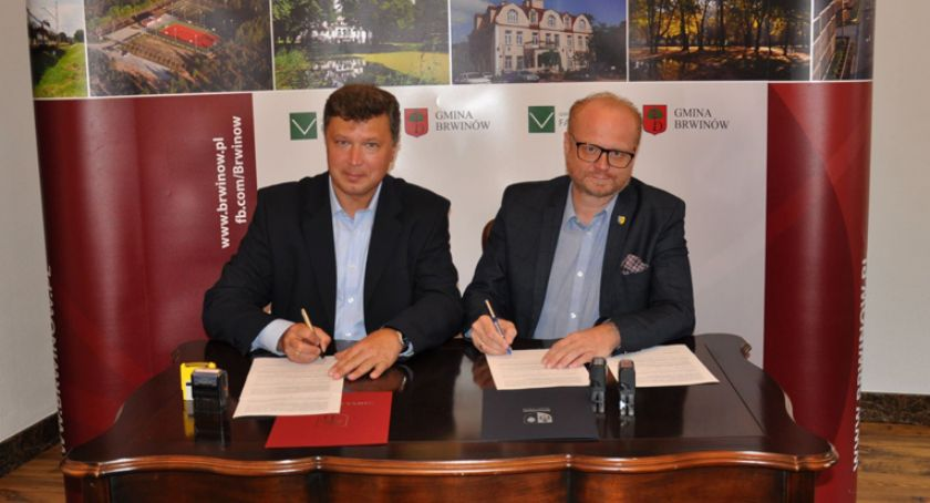 inwestycje, Porozumienie gminy Brwinów Milanówkiem - zdjęcie, fotografia