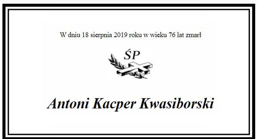 Nekrologi, Zmarł Antoni Kacper Kwasiborski absolwent Pruszkowie - zdjęcie, fotografia