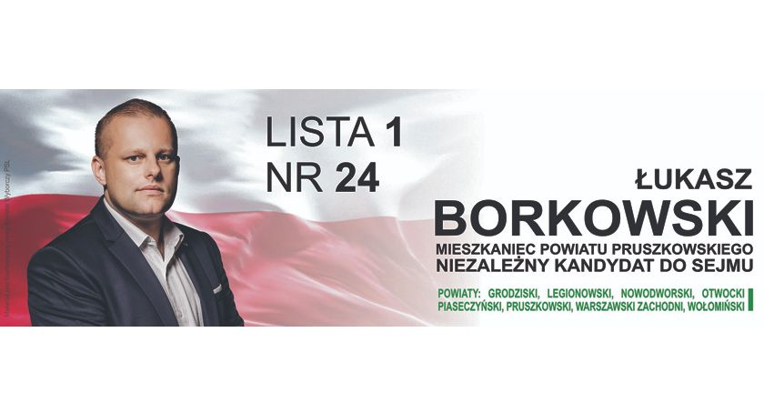 urzędy i administracja , Łukasz Borkowski niezależnym kandydatem Sejmu - zdjęcie, fotografia