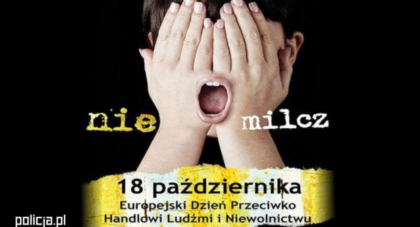 komunikaty policji, Europejski Dzień Handlu Ludźmi - zdjęcie, fotografia