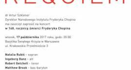 W rocznicę śmierci Fryderyka Chopin zabrzmi Requiem Mozarta