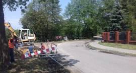 Roboty drogowe w Żółwinie w gminie Brwinów