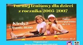 Turniej tenisowy dla dzieci
