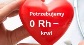 Pilnie potrzebna krew do transfuzji grupy 0 Rh- (ujemny)