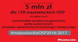 5 mln zł dla mazowieckich OSP podzielone