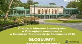 Opinogórska Oranżeria nominowana w konkursie Top Inwestycje Komunalne 2016