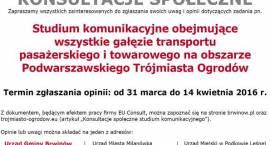 Konsultacje społeczne studium komunikacyjnego obszaru gmin Brwinów, Milanówek i Podkowa Leśna