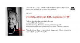 Wisława Szymborska - spotkanie w Stawisku