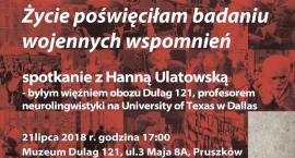 Spotkanie z prof. Ulatowską w Muzeum Dulag 121