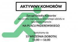 Zarząd Osiedla Komorów oraz gmina Michałowice zaprasza do wspólnej zabawy
