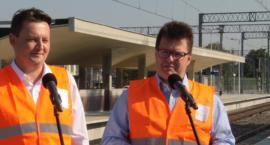 Otwarcie peronu PKP w Pruszkowie