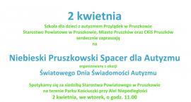 Powiat Pruszkowski zaprasza na Niebieski Spacer dla Autyzmu