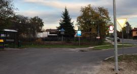 Przystanek w Mosznie z nowym oświetleniem
