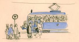 Nie czepiać się tramwaju! Komunikacja miejska w karykaturze - wystawa