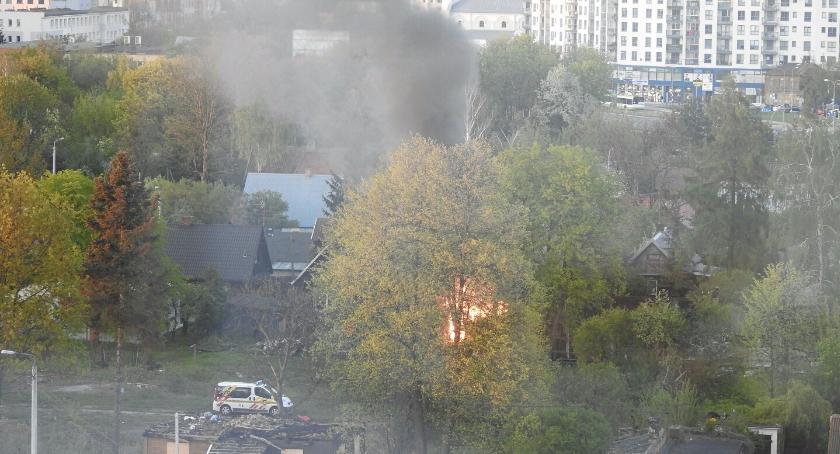 Wiadomości, Płonie kolejny monitoringu było - zdjęcie, fotografia