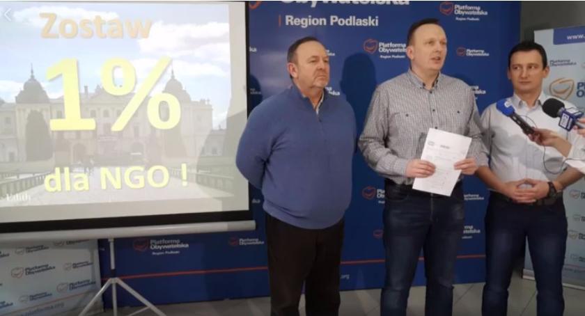 Wiadomości, Białostocka Platforma prosi procent Białegostoku - zdjęcie, fotografia