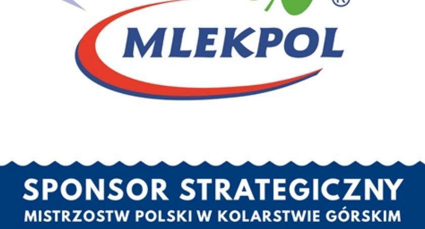 Sport, Kolarstwo górskie sponsorowane przez Mlekpol - zdjęcie, fotografia