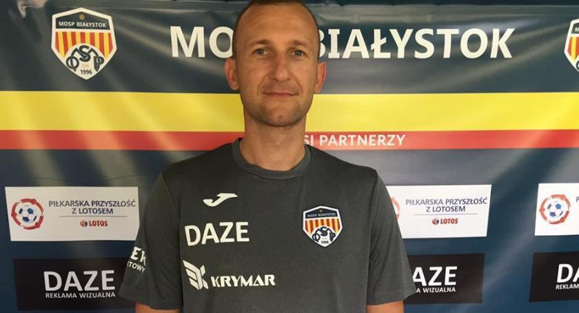 MOSP Białystok, Pierwszy ligowy chwilę drużyny trafił zawodnik - zdjęcie, fotografia