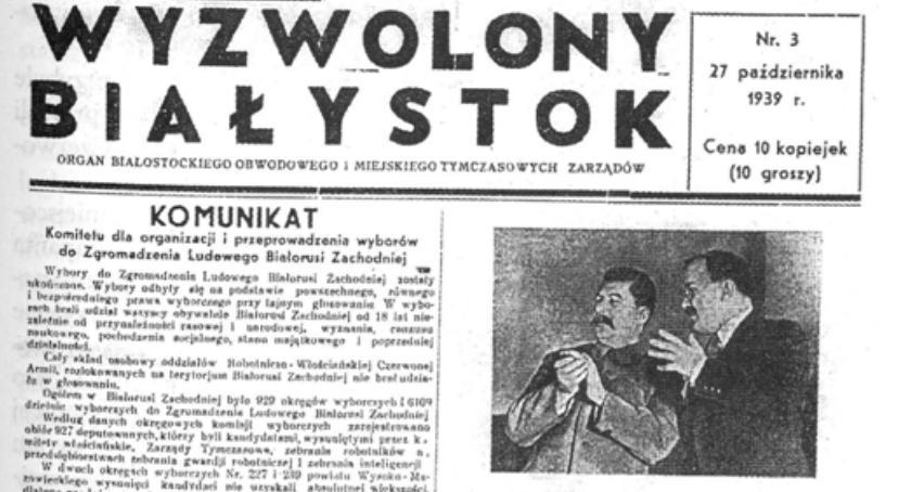 Felietony, Białystok pierwszego sowieta parodia demokracji - zdjęcie, fotografia