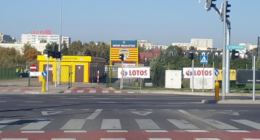 MOSP Białystok, Wjechać łatwo trudniej wyjechać - zdjęcie, fotografia