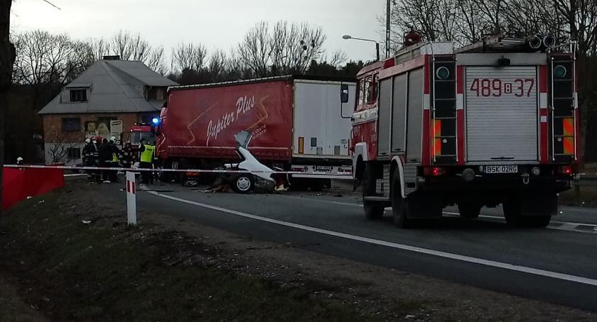 KOLIZJA 24, Blokada drogi potrwa kilka godzin powodu śmiertelnego wypadku - zdjęcie, fotografia