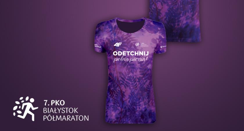 Sport, wygląda projekt koszulki Białystok Półmaraton - zdjęcie, fotografia