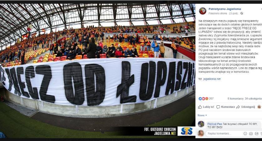 """Wiadomości, Białostoccy kibice przekazali stanowisko sprawie """"Łupaszki"""" - zdjęcie, fotografia"""