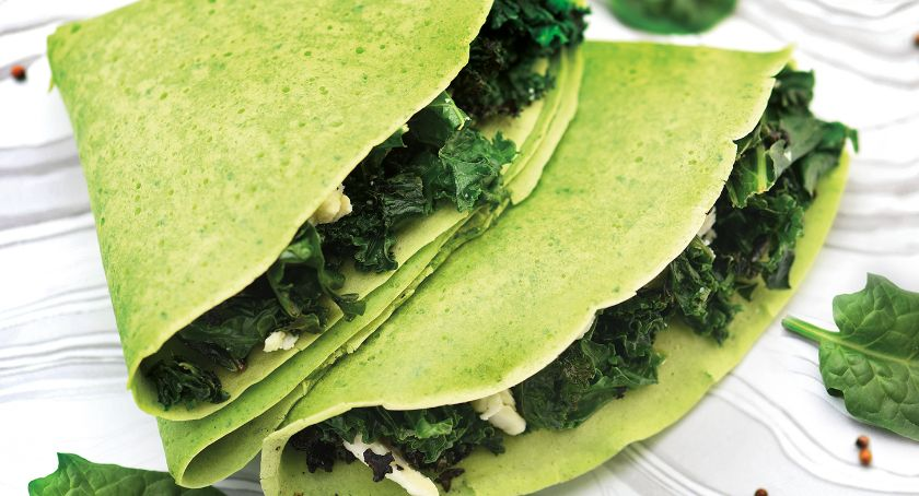 Styl życia, Zielone naleśnikowe kanapki wiosnę mięsa - zdjęcie, fotografia