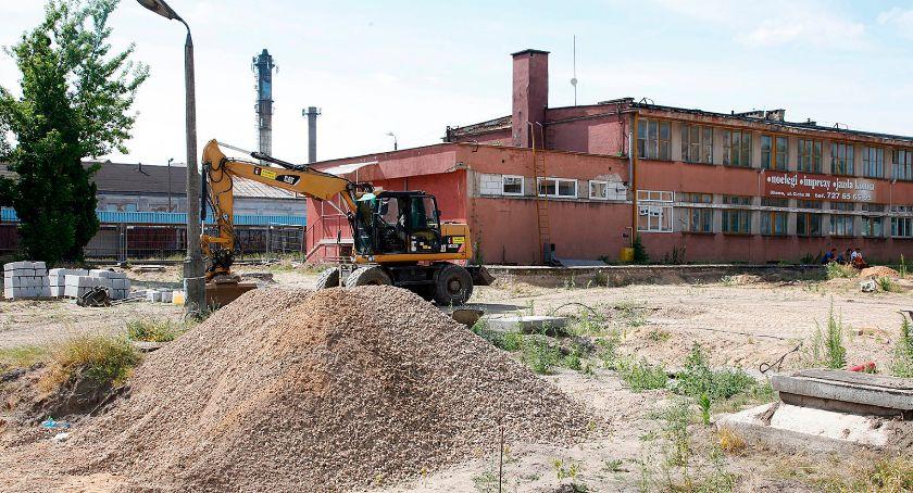 Wiadomości, Łapach praca Buduje centrum przesiadkowe - zdjęcie, fotografia