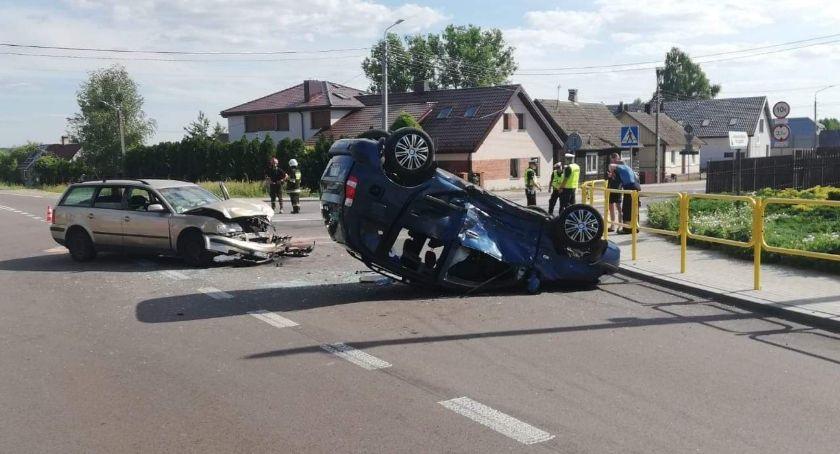 KOLIZJA 24, Kierowcy dwóch pasażerów trafiło szpitala Droga Moniek była zablokowana przez kilka godzin - zdjęcie, fotografia
