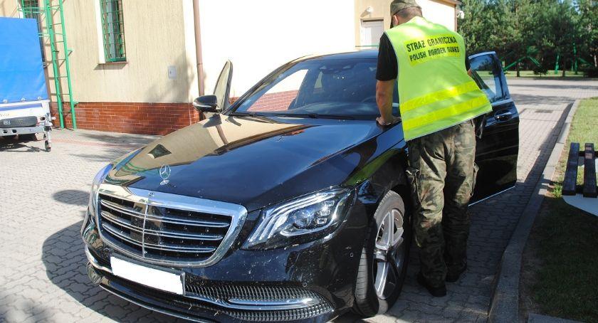 Wiadomości, Skradziony luksusowy mercedes odnalazł polskiej granicy - zdjęcie, fotografia