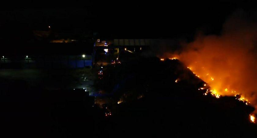 Wiadomości, Strażacy znów musieli walczyć pożarem Studziankach - zdjęcie, fotografia