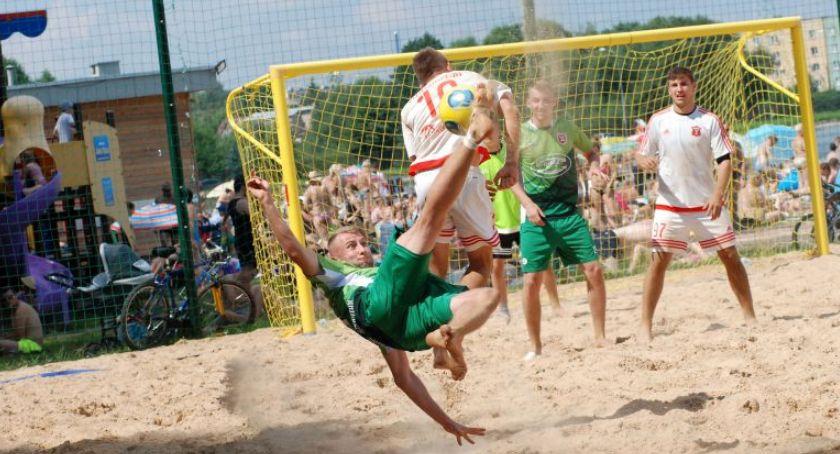 Piłka nożna, Plaży Dojlidy rozpoczyna Turniej Piłki Plażowej - zdjęcie, fotografia