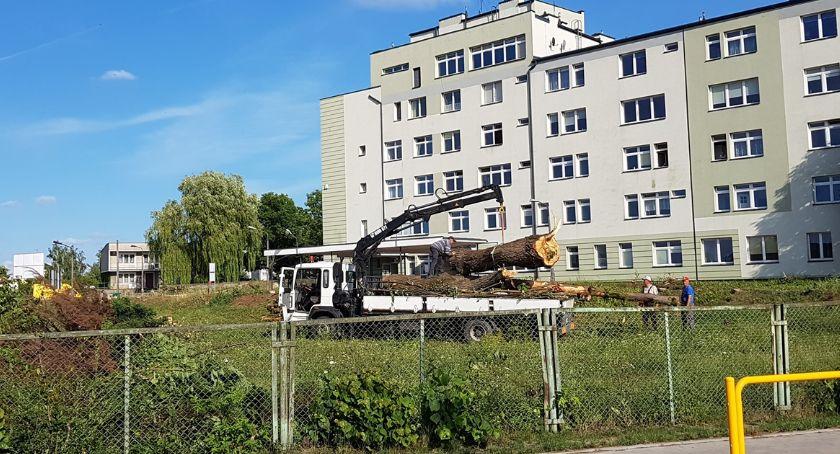 Wiadomości, szpitalem Łapach trwają intensywne prace - zdjęcie, fotografia